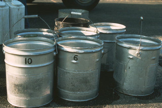 The fry are brought to the airport in numbered containers with specific variety and number of fry for each lake...