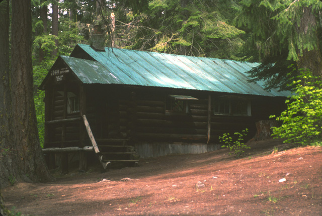 This is the WDFW cabin at the outlet end of big Twin Lake, built in 1949.  It is used by WDFW to house biologists and gear when eggs are taken and fertilized in the spring to provide nearly a million cutthroat fry for stocking other waters.