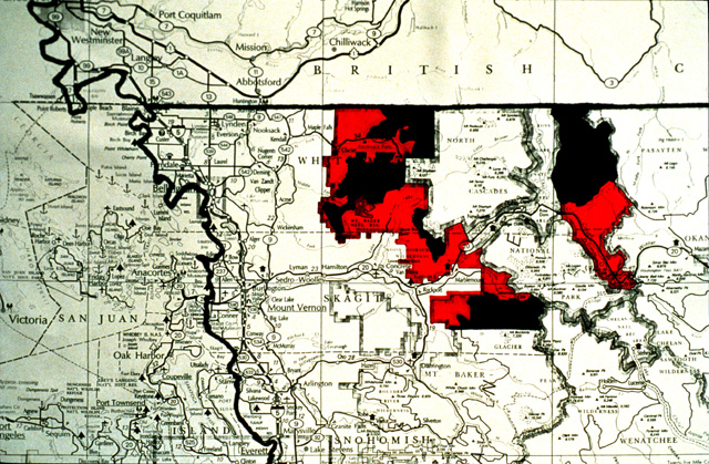 In the 1980s, WDFW biologist Jim Johnston studied about 80 lakes in the North Cascades, outside of the national park and within and outside of Wilderness areas.  This map shows the area studied.