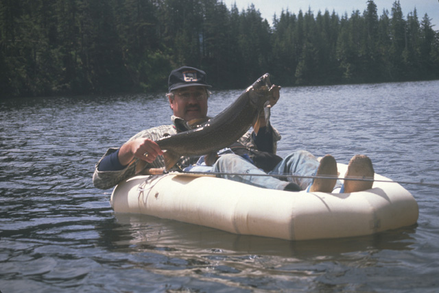 """The result was a 29"""", 9.5 pound Mackinaw, my personal biggest high lake fish."""