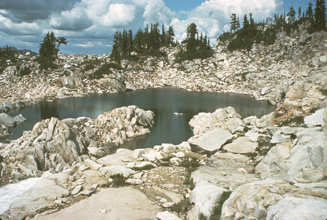 Higher elevation lakes (4500+ feet) with little surrounding vegetation may not be productive.  While scenic, some prospecting for fish can be entertaining, but these lakes should not be camping destinations if fishing is your primary interest.