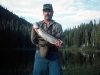 Here I (Gerry Ring Erickson) am holding a four-pound, 21 inch Mt. Whitney rainbow.