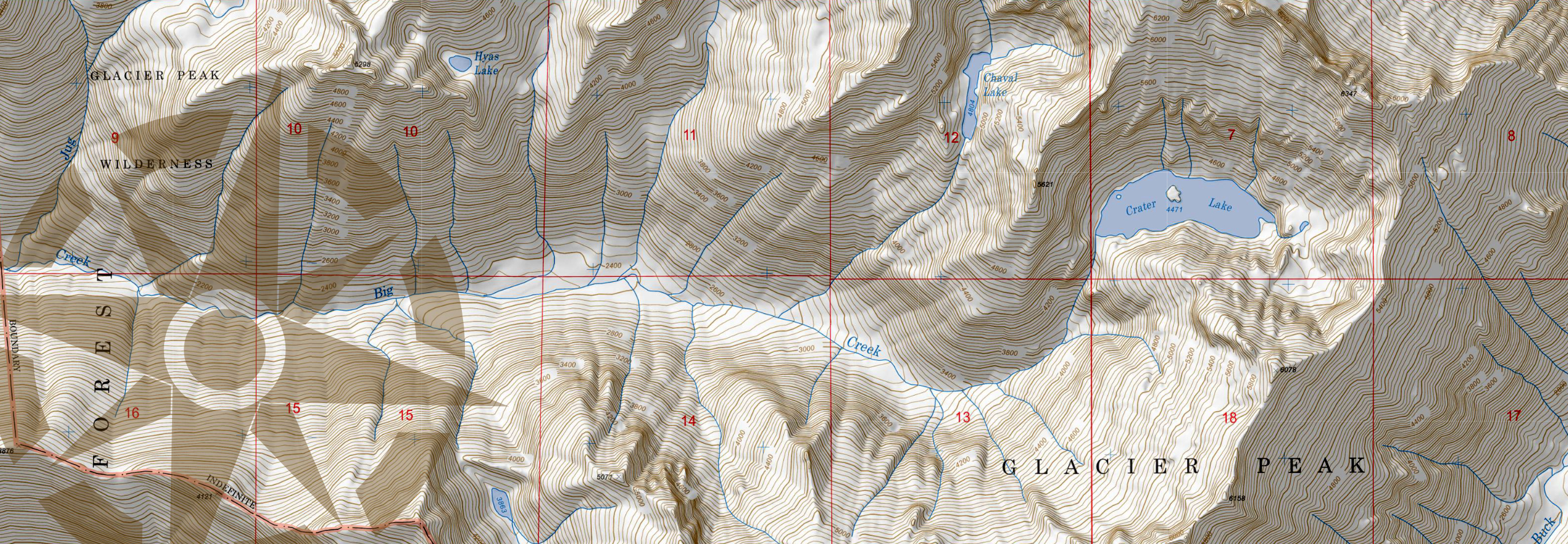 Topo Map of Crater Lake